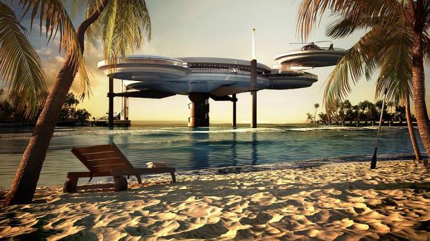 Water Discus Hotel to pierwsza tego typu konstrukcja na świecie.