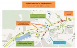 Organizacja ruchu, która obowiązuje od chwili otwarcia 1,5-kilometrowego odcinka Trasy Słowackiego.