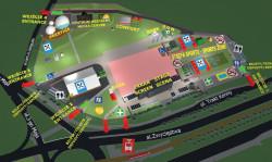 Mapa strefy kibica w Gdańsku. Wydrukuj, albo weź darmową w punkcie informacyjnym.
