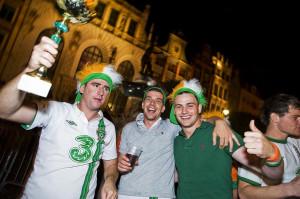 Irlandczycy pomimo wysokiej porażki do końca meczu dopingowali swój zespół, a po wyjściu ze stadionu szybko nie poszli spać.