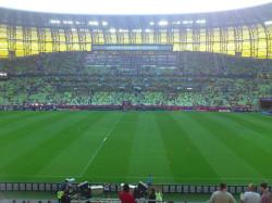Godzina do meczu na stadionie w Gdańsku.