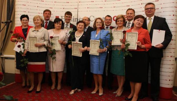 Przedstawiciele urzędów skarbowych otrzymali nagrody z rąk Marka Goliszewskiego, prezesa Business Centre Club oraz Andrzeja Parafianowicza, głównego inspektora kontroli skarbowej.