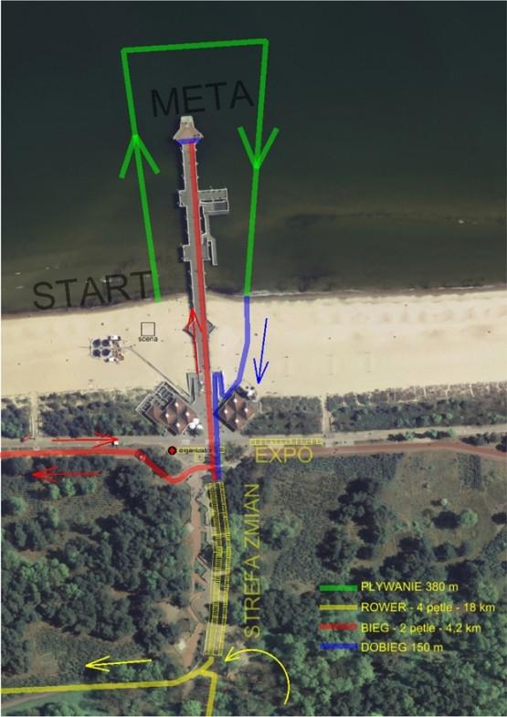 Mapa zawodów / schematy tras