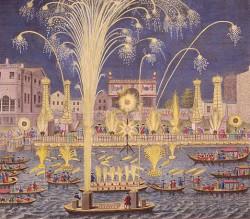 Muzyka na wodzie ( Water Music ) została przez Händla wykonana z okazji przejazdu króla Jerzego I po Tamizie. Drugim dziełem o podobnym charakterze jest Muzyka dla Królewskich Ogni Sztucznych (Music for the Royal Fireworks) z 1749 roku.