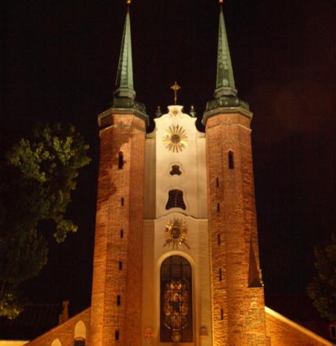 Katedra Oliwska, stąd rozpoczynamy naszą nocną wycieczkę