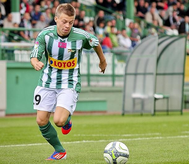 Łukasz Kacprzycki zdobył dwie bramki w meczu reprezentacji Polski do lat 19 przeciwko rówieśnikom z Łotwy.