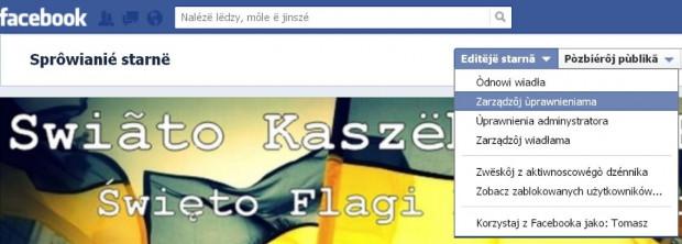 Okazało się, że polskie komunikaty w serwisie Facebook w łatwy sposób można zmienić na kaszubskie.