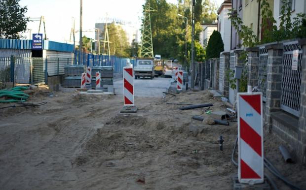 Budowa ul. Poznańskiej w Gdyni.