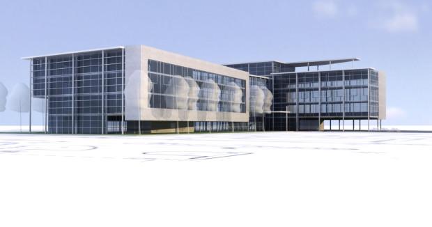 Faza koncepcyjna budynku Opera Office, wizja 1.