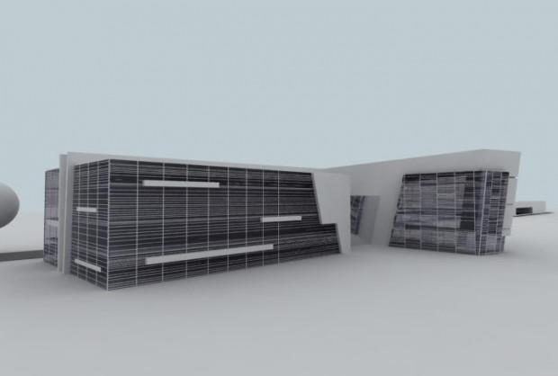 Faza koncepcyjna budynku Opera Office, wizja 4, ostateczna.