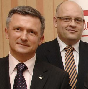 Od lewej: Sławomir Kalicki, nowy konsul honorowy Republiki Malty w Gdyni. Obok niego Maciej Dobrzyniecki, konsul honorowy Królestwa Hiszpanii w Gdańsku.