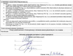 Wnioski i zalecenia pokontrolne zgłoszone przez członków rady nadzorczej Portu Lotniczego Gdańsk im. Lecha Wałęsy.