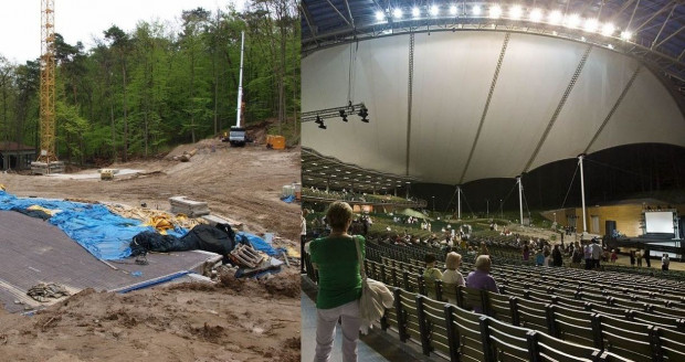 Opera Leśna w Sopocie: po rozebraniu starej konstrukcji i nowy obiekt.