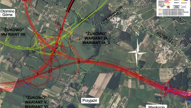 Odcinek planowanej Obwodnicy Metropolitalnej wokół Trójmiasta.