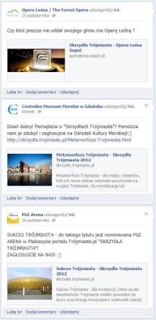 Promocja głosowania w naszym Plebiscycie na Facebooku.