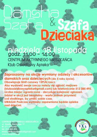 W niedzielę w Gdyni będzie można zostawić dziecko pod opieką, a samej rzucić sięw wir zakupów za grosze.