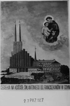 Cegiełka na budowę kościoła św. Antoniego.