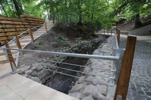 Wyróżniona w konkursie rewitalizacja ścieżki wzdłuż potoku Elizy w Sopocie.