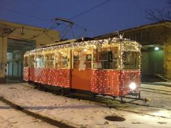 Świąteczny tramwaj wyjechał na ulice Gdańska.