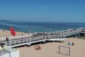 Widok na plażę w Brzeźnie