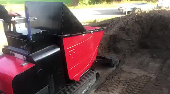 Mini wozidlo samozaładowcze - rozkładanie, taczkowanie ziemi, żwiru ..: wideo 12986