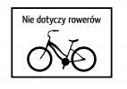 Nie dotyczy rower�w