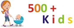 Logo 500 + KIDS