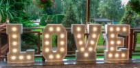 Napis LOVE & MIŁOŚĆ LED na wesele